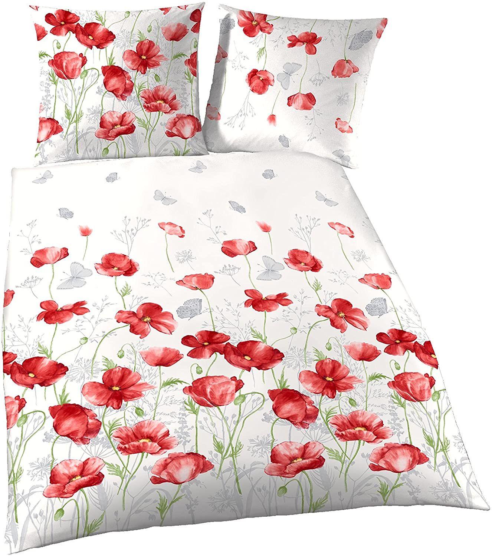 Traumschon Blumen Bettwasche 135x200 Mohnblumen Design 100 Baumwoll Bettwasche 135x200 Bettbezug 135x200 In 2020 Bettwasche 135x200 Kissenbezug 80x80 Bettbezug