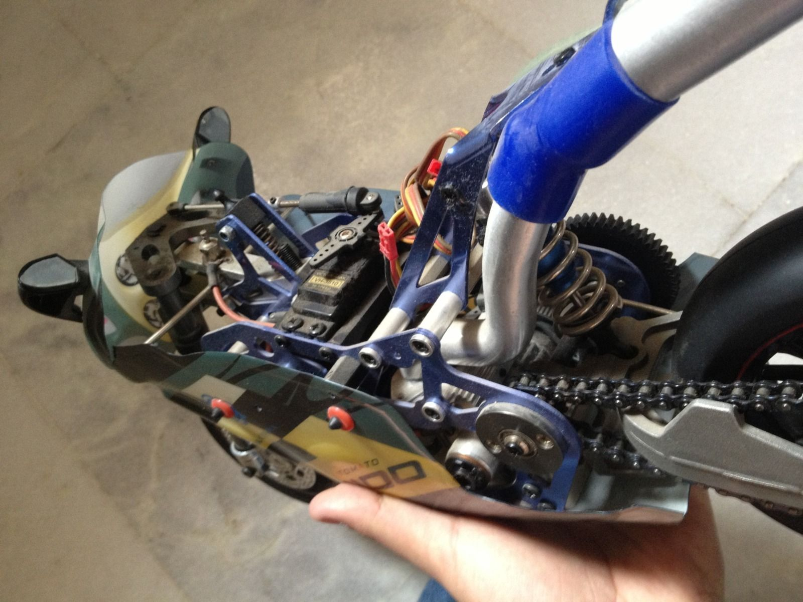 For Sale 1 5 Scale Nitro Rc Motor Bike Ready To Go India S