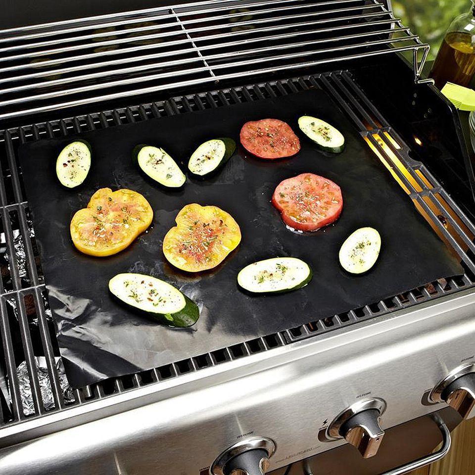 Non Stick Teflon Coated Fiberglass Fabric Barbecue Bbq Grill Mat