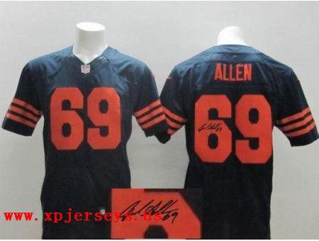 Chicago Bears 69 Jared Allen Blue orange Nike New Nike Elite Jerseys