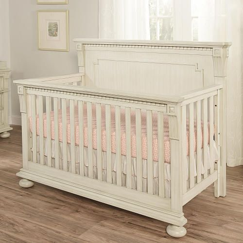 Oxford Baby Mid-Century Claremont Convertible Crib - Antique White - Babies