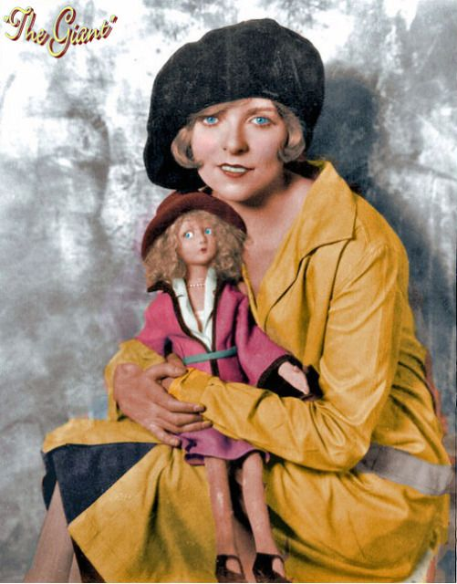 Billie Dove with French Look-alike Boudoir Doll