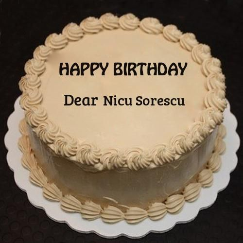 Write Name on Butterscotch Surprise Birthday Cake Pics Torturi