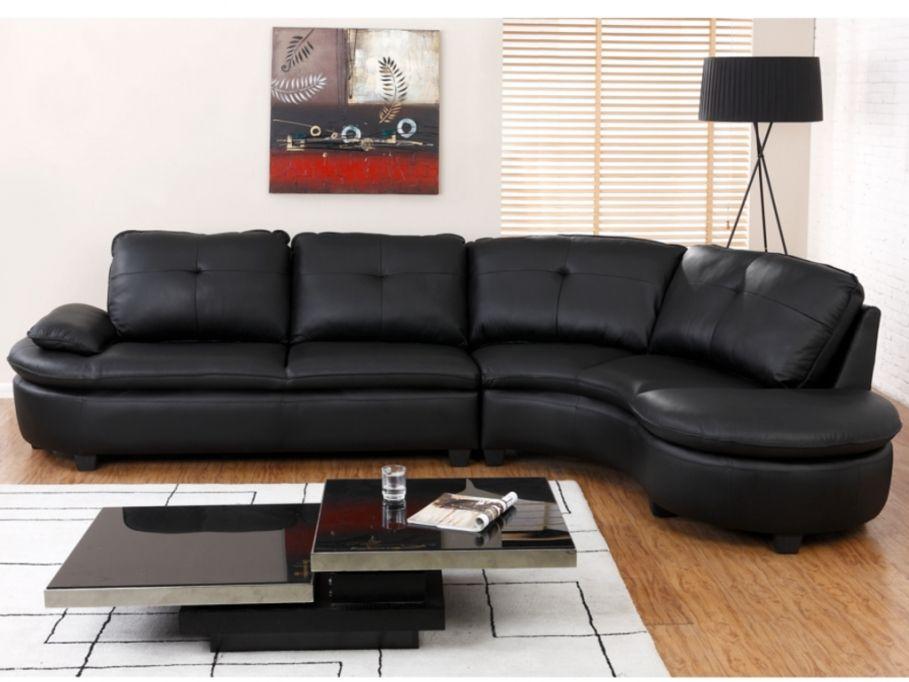 canap d 39 angle xxl en cuir blaise vente unique en 2019. Black Bedroom Furniture Sets. Home Design Ideas