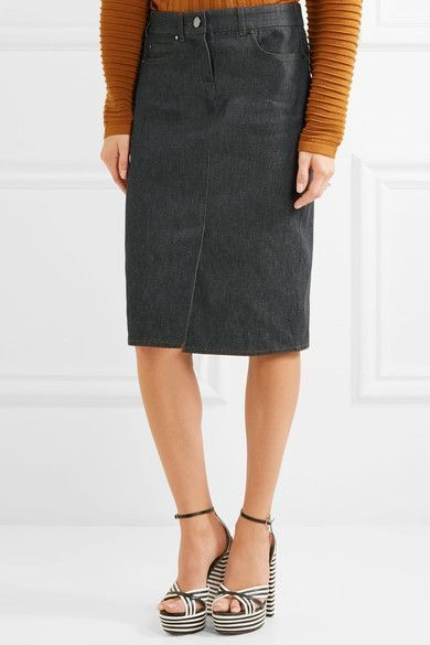 Stretch-denim Pencil Skirt - Blue Max Mara