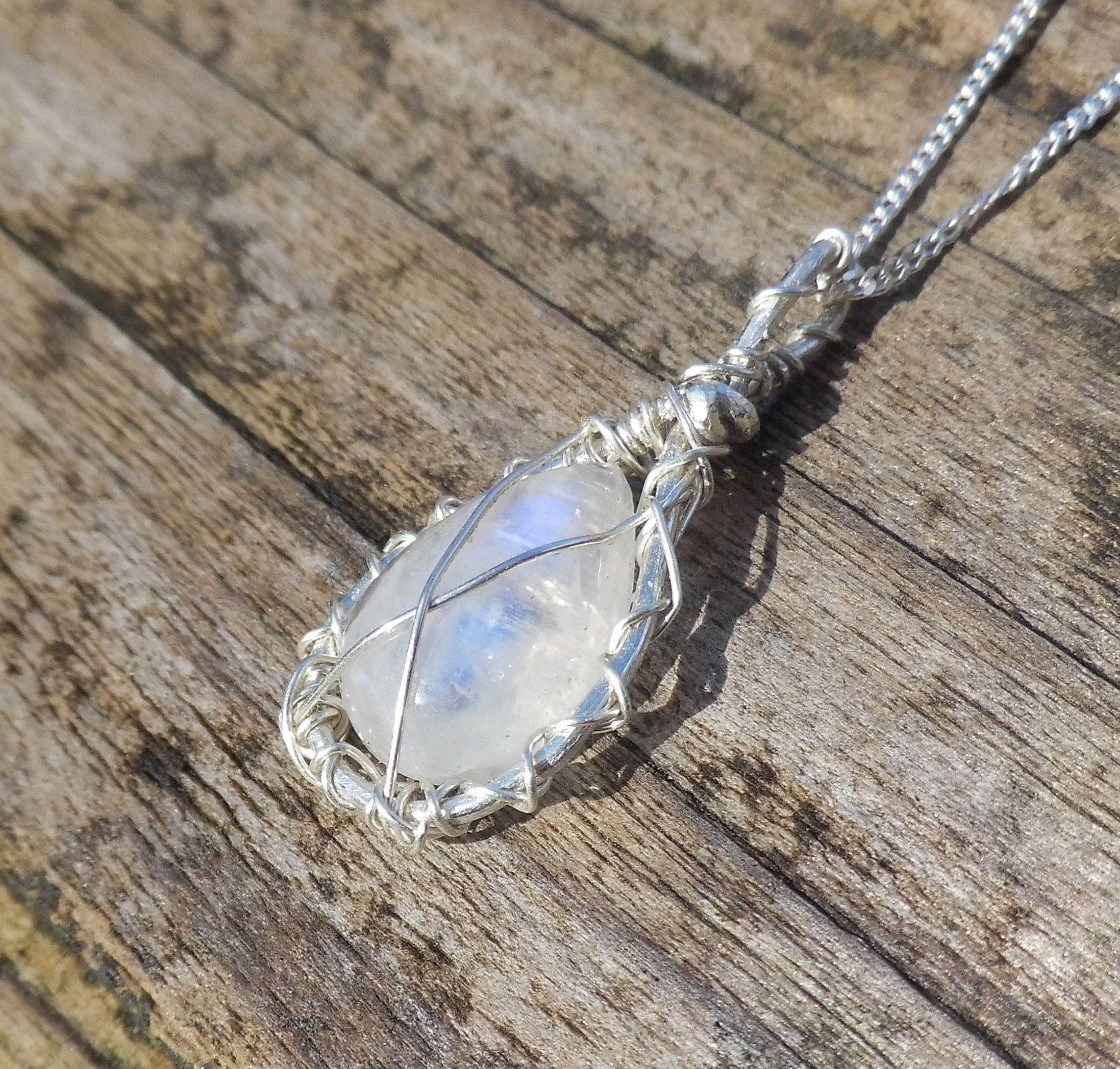 Smoky quartz necklace crystal necklace moonstone necklace healing crystals choker boho jewlery bohemian necklace