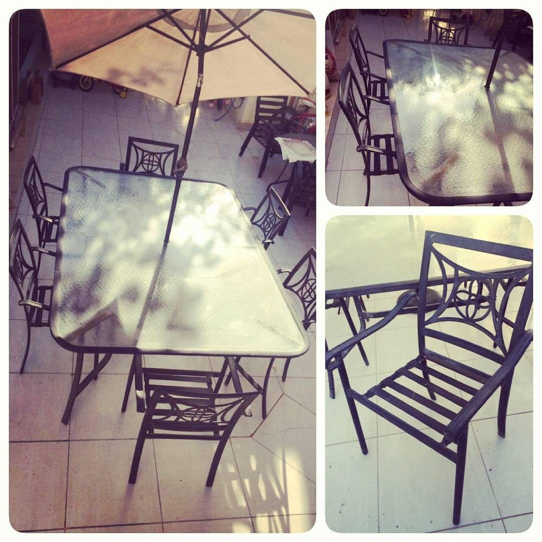 For Sale Garden Table For 6 Person Good Condation Price 85 Bd للبيع طاولة حديقة