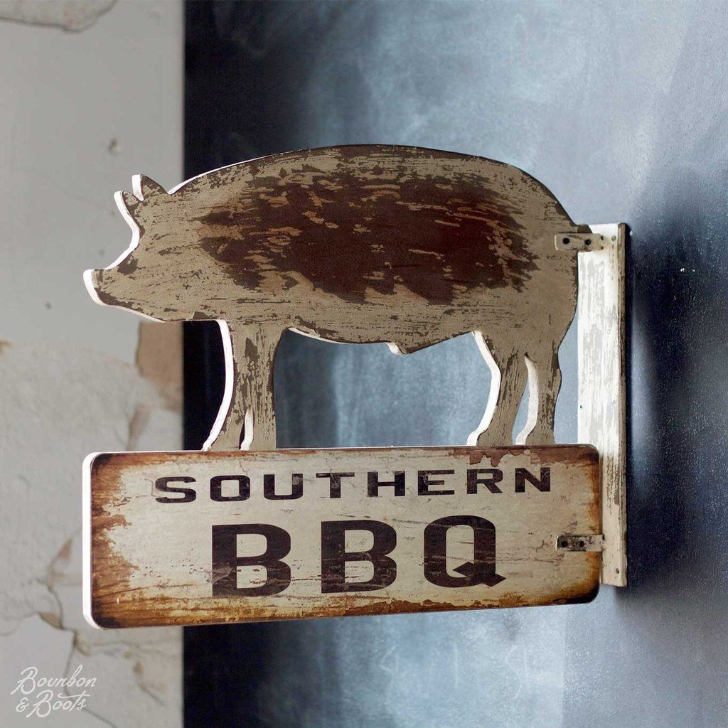 Southern BBQ Reclaimed Wood Sign
