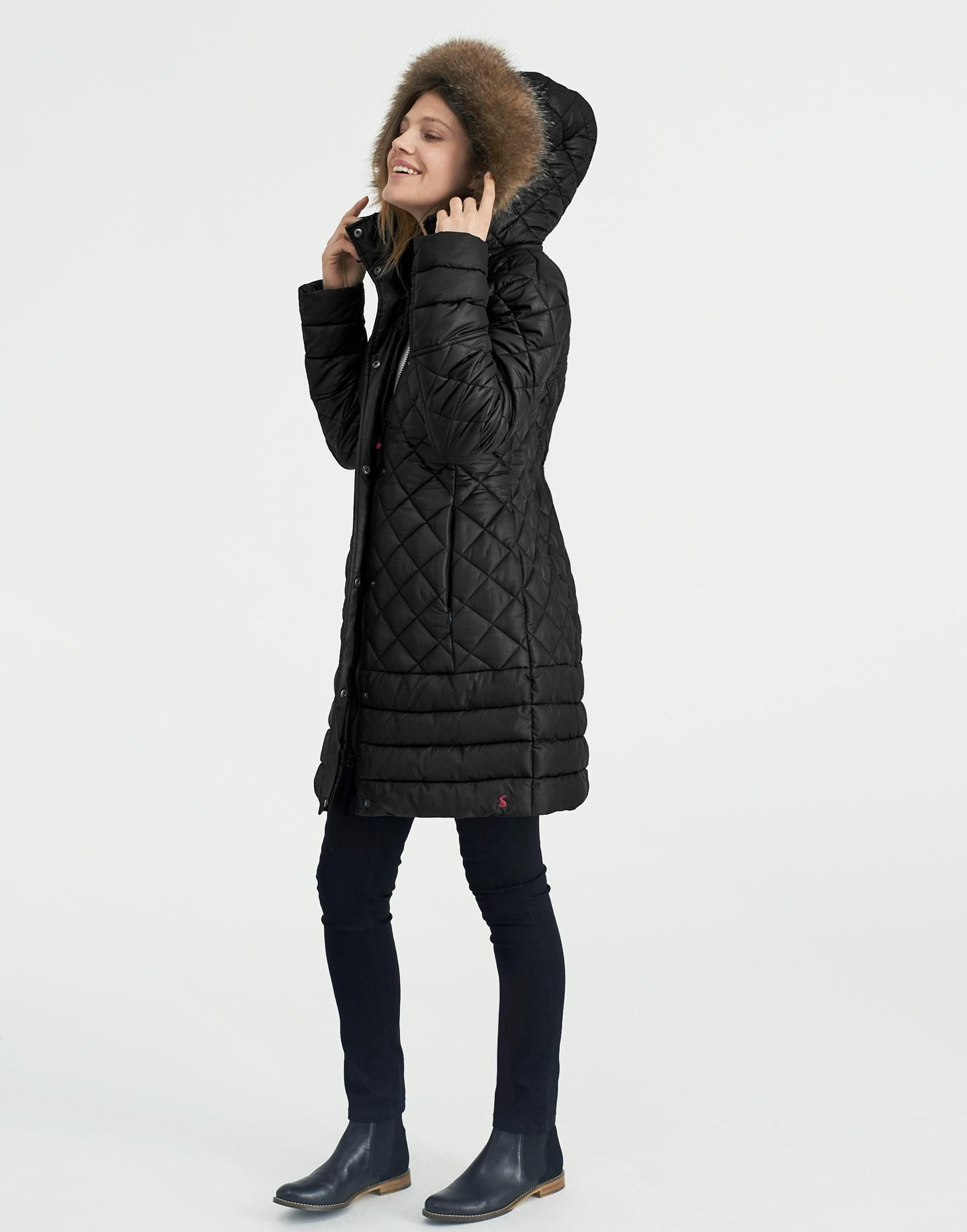 Snowshill Black Padded Jacket | Joules US | My Style | Pinterest ... : joules green quilted jacket - Adamdwight.com