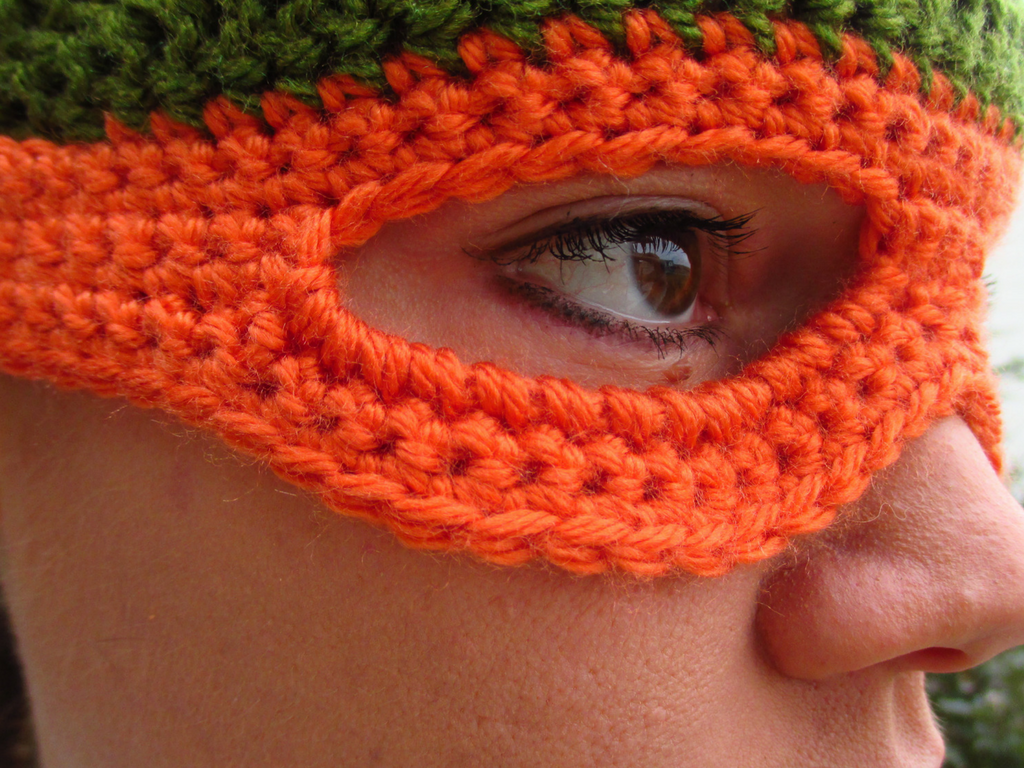 Ninja Turtle Child\'s Beanie with Mask FREE Crochet Pattern ...