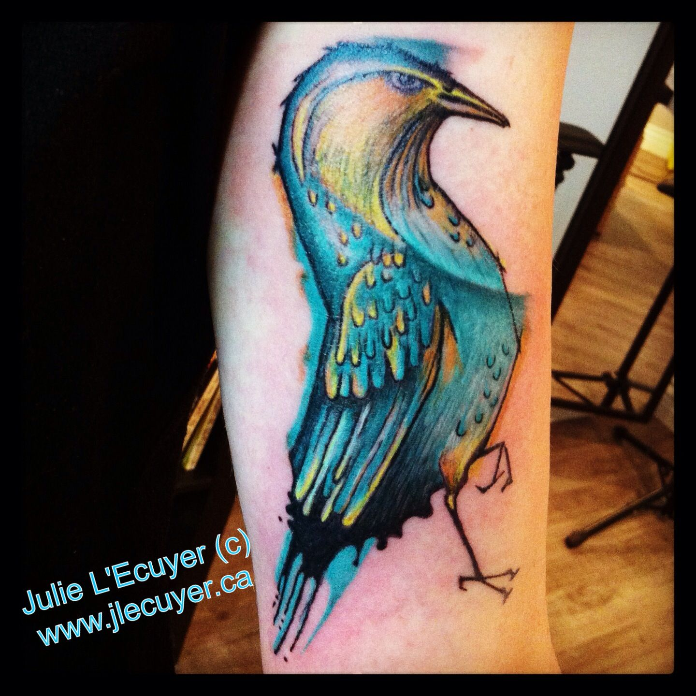 tatouage oiseau graphique c r alis par julie l 39 ecuyer graphic bird tattoo c made by tattoo. Black Bedroom Furniture Sets. Home Design Ideas