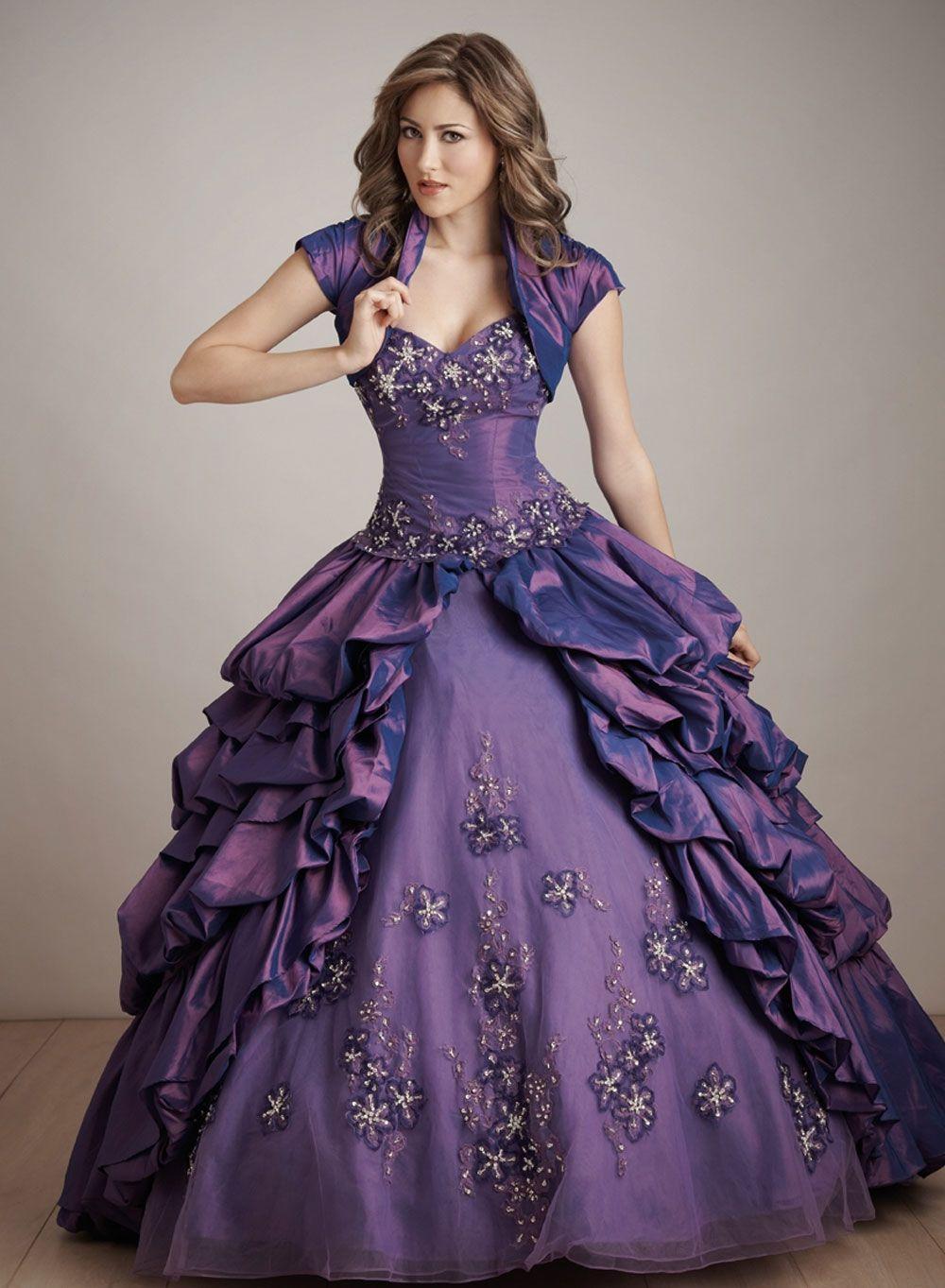 Vestidos de 15 color morado. | Mujeres, moda, diseño, belleza ...