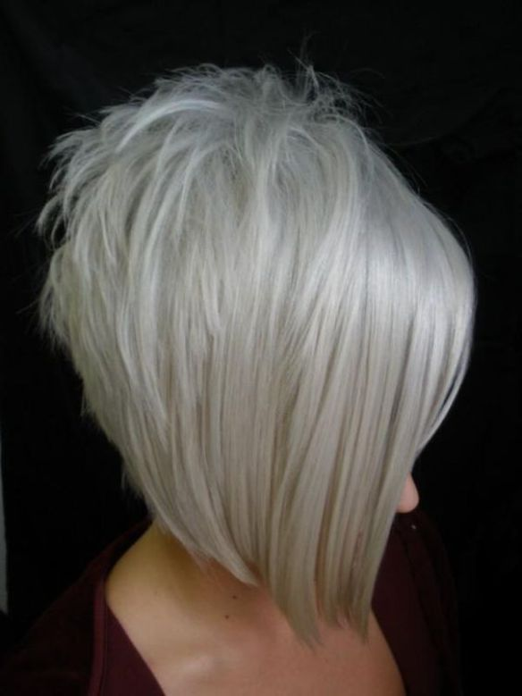 Inverted Bob Haircut With Grey Hair Bob Haircuts For Fine Hair