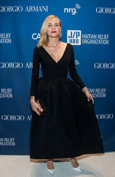 Diane Kruger in a Preen 'Bergman' dress, Stuart Weitzman heels and H Stern jewelsat Sean Penn's Help Haiti Home Gala.