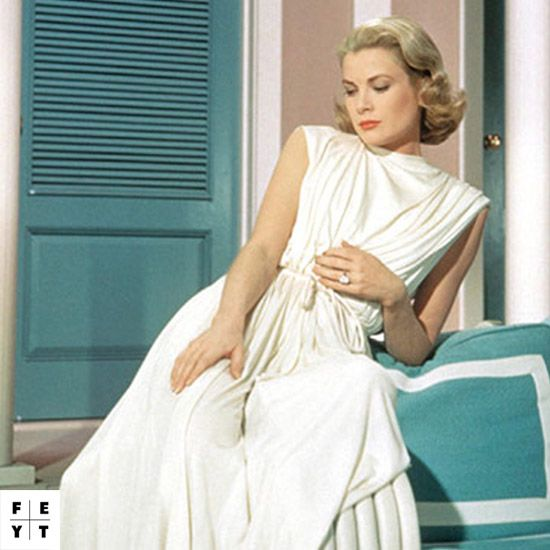 "White hot! Emulate #GraceKelly's ""High Society"" look + shop #white on FEYT.com #FilmFriday"