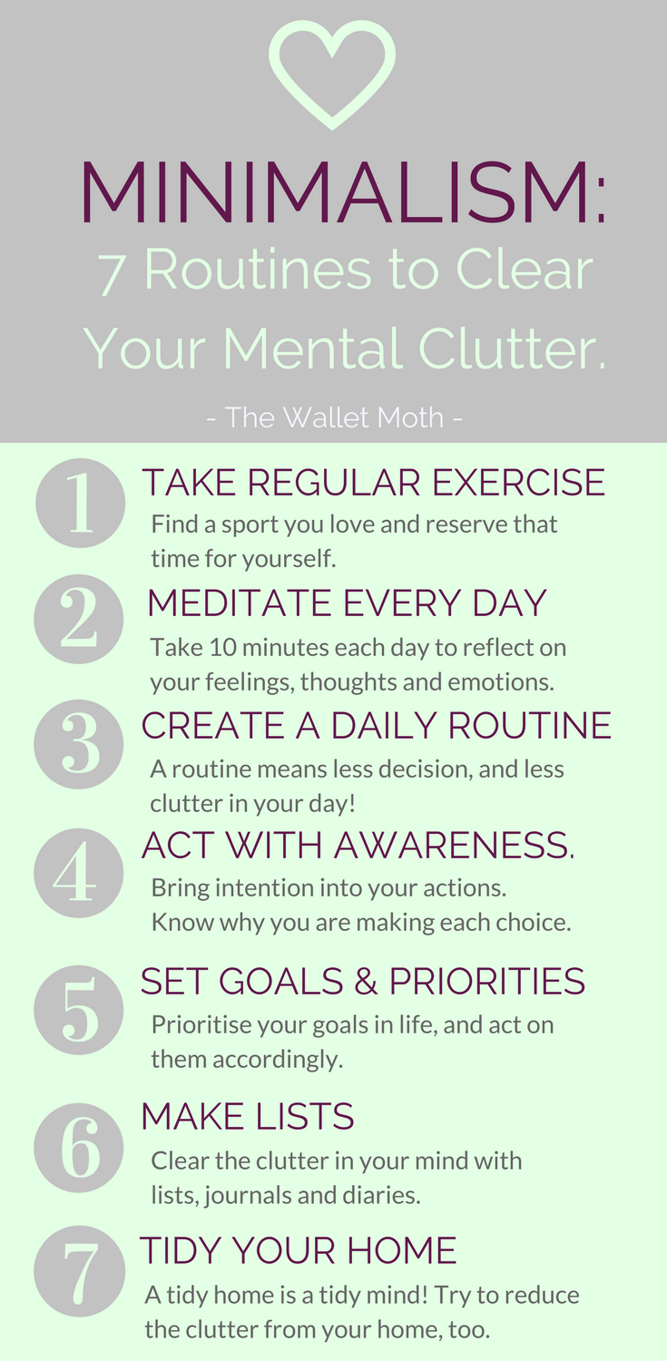10 Steps To Cultivating A Minimalist Mindset | Clear Your Mental Clutter