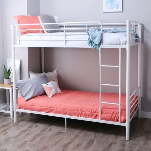 Malia Twin Over Twin Bunk Bed With Images Twin Bunk Beds Bunk