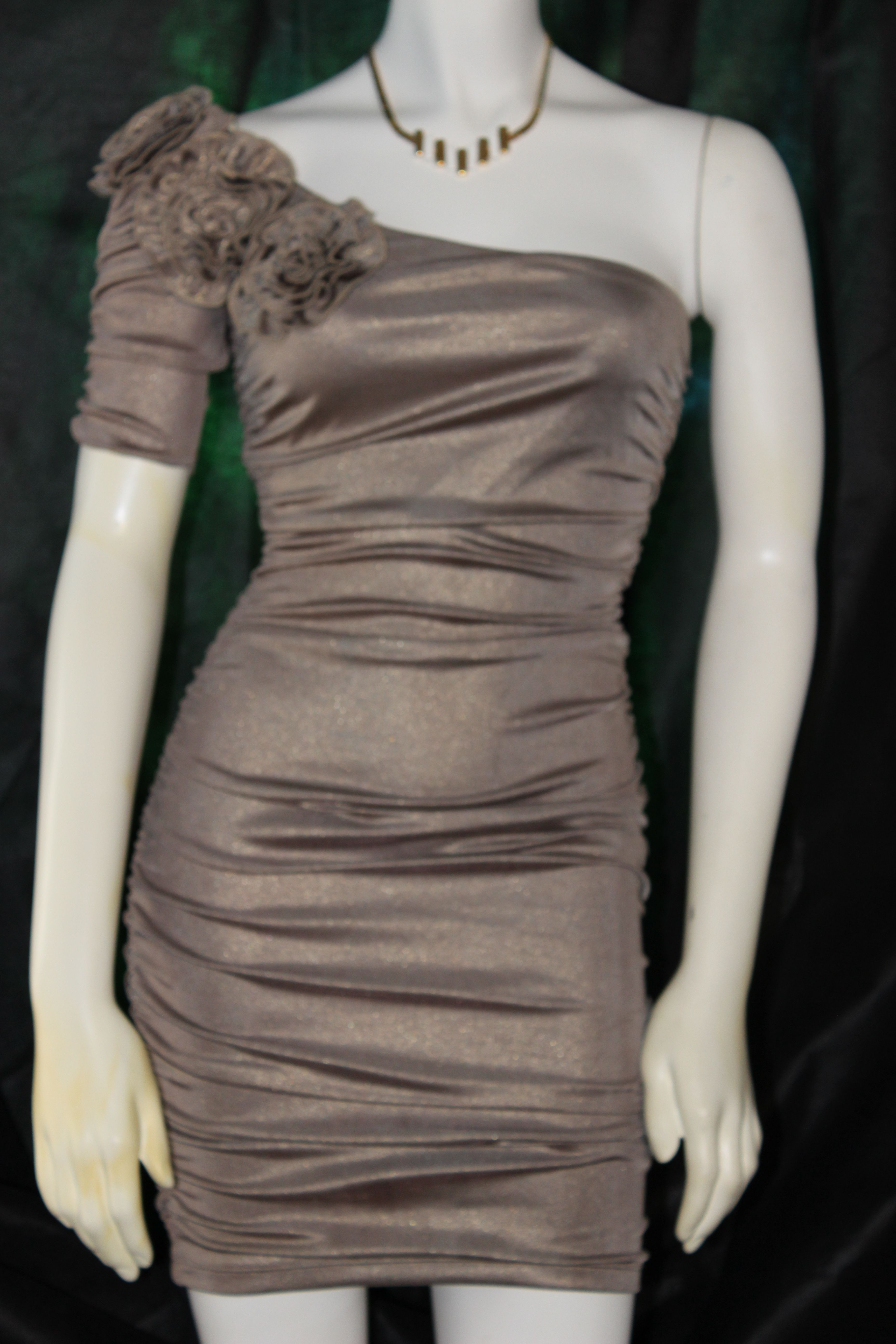 By forever used excellent conditiongold metallic dress size