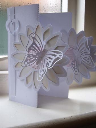 DOUBLE FOLD BACK CARD SIL STUDIO on Craftsuprint designed by Clive Couter - studio files