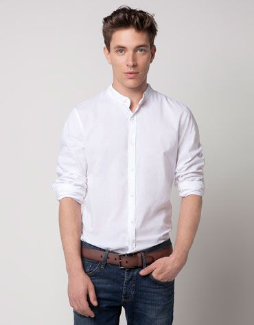 5aee2fb14bf2ec Bershka Jordan - Mandarin collar shirt