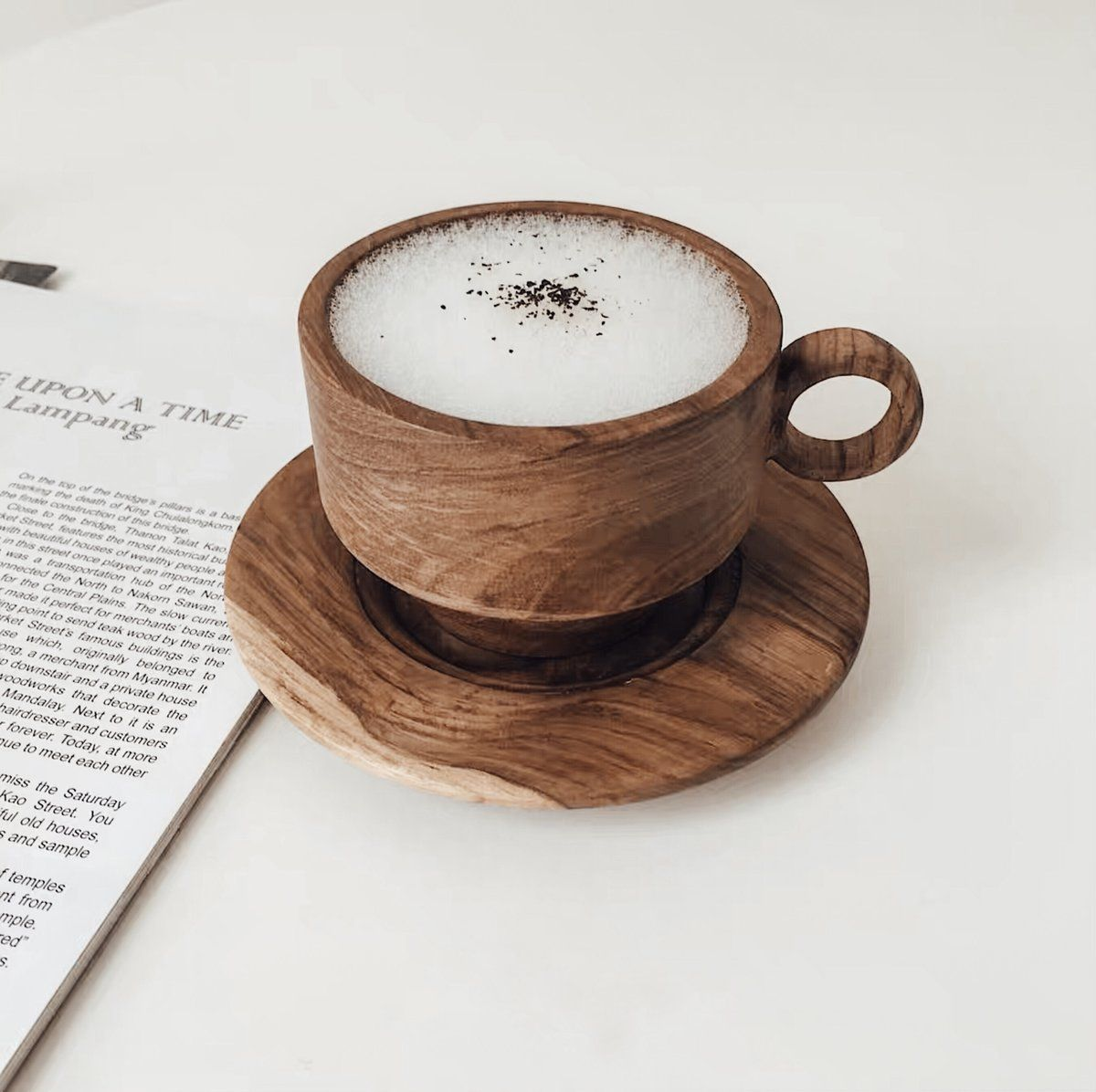 OUD Wood Cup and Coaster in 2020 | Coffee shop aesthetic, My