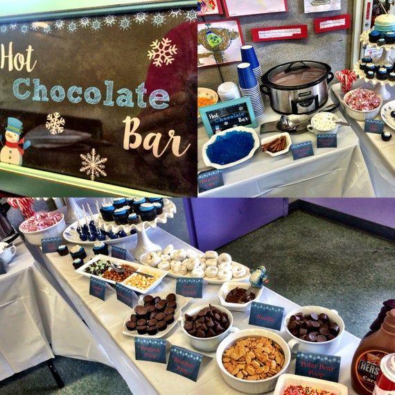 Hot Chocolate Bar Sign | Chalkboard Sign | Hot Chocolate Bar Sign with Snowman | Winter Wonderland P #hotchocolatebar