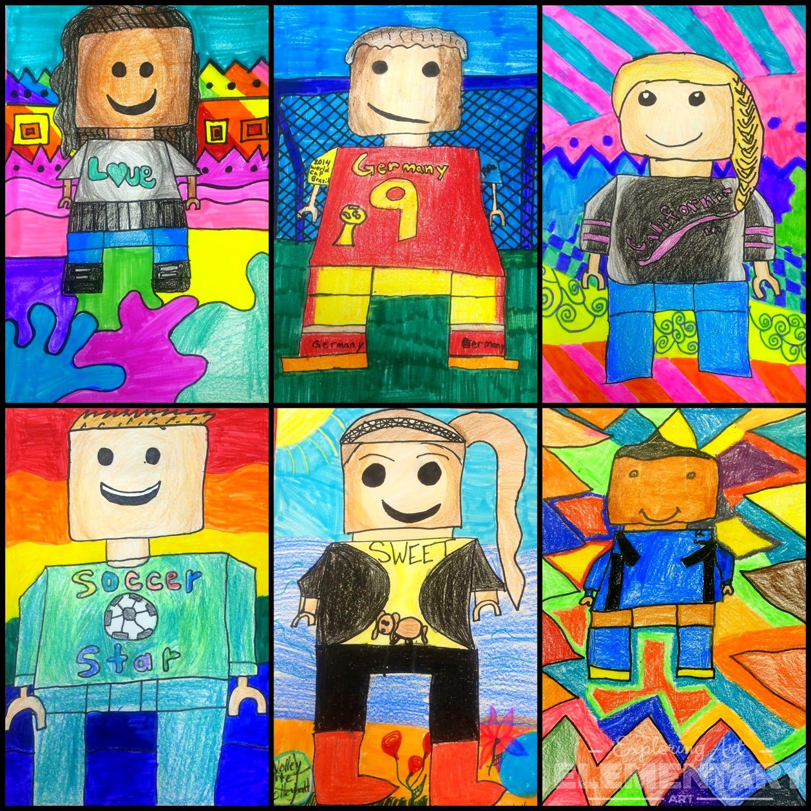 Exploring Art Elementary Art They Re Back 5th Grade Lego Self Portraits
