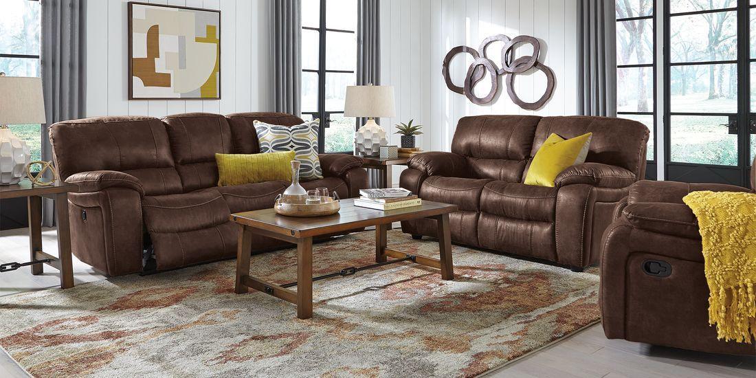 cindy crawford home alpen ridge brown 5 pc living room