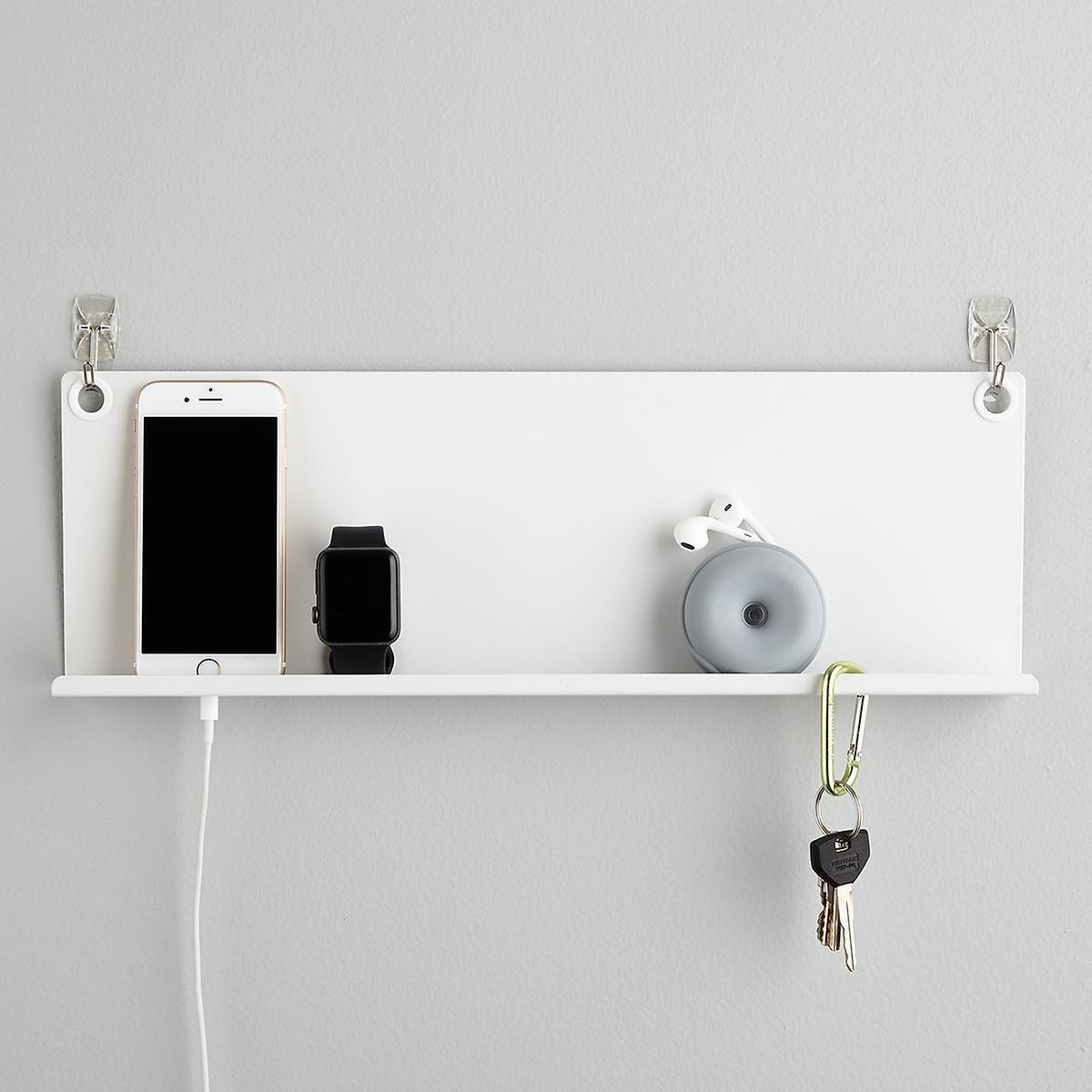Umbra Levit White Tech Shelf In 2020 Shelves Metal Wall Shelves Wall Shelves Design