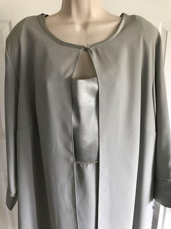 JR Nites Woman satin pale sage green dress jacket set 24W #Ad , #ad, #satin#pale#Woman #sagegreendress JR Nites Woman satin pale sage green dress jacket set 24W #Ad , #ad, #satin#pale#Woman #sagegreendress