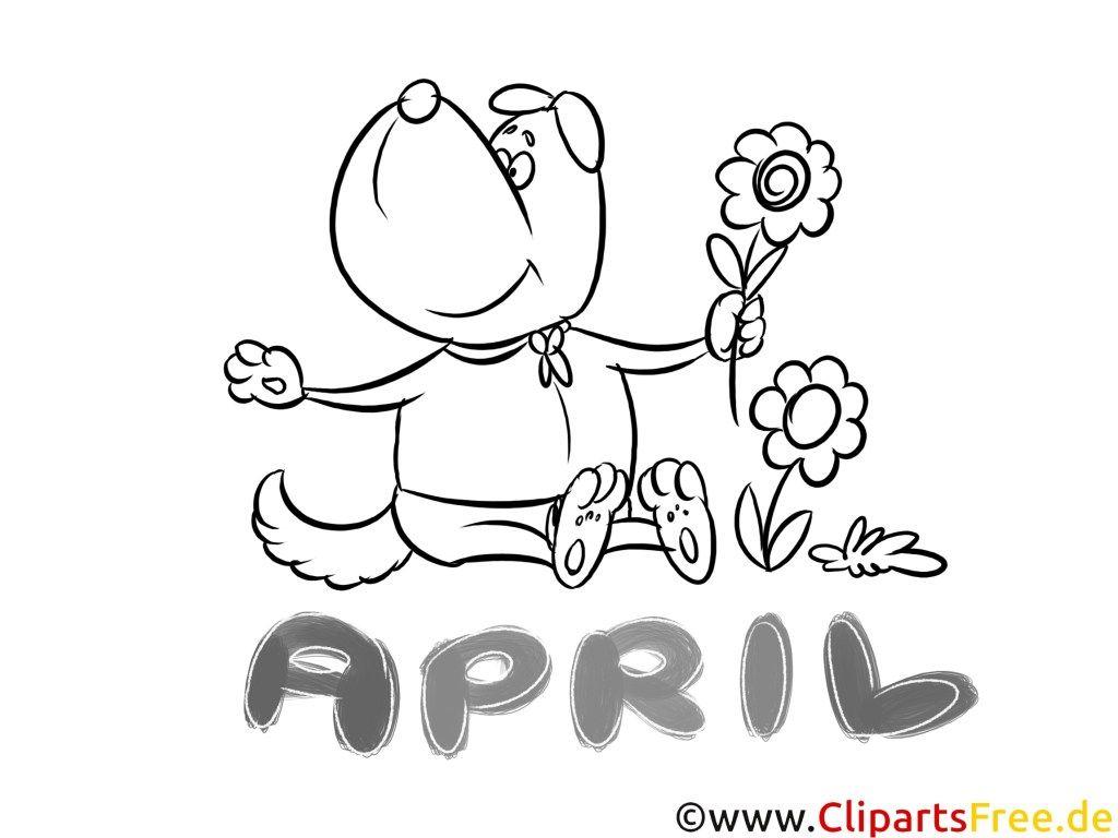 Malvorlagen April