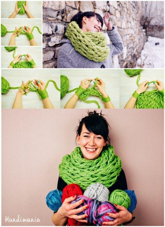 Arm Knit Blanket Tutorial Easy Diy Pattern Video Instructions Arm
