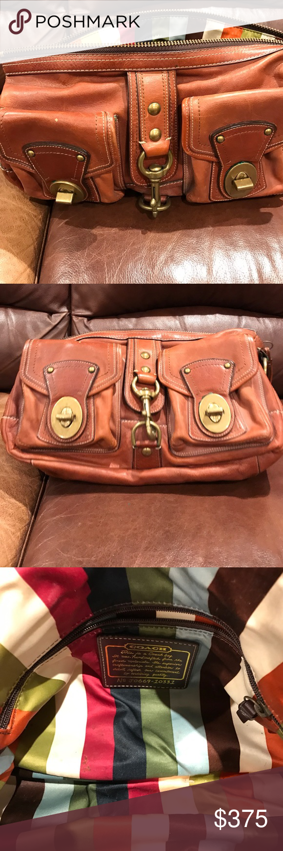 Nwot Authentic Coach Tote Handbag Style With Authenticity Number Available In The Pictures Pink