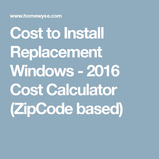 windows cost calculator