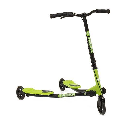 """Y Fliker Scooter >> YFliker F1 Flow Series Scooter- Green - Yvolution - Toys""""R""""Us He LOVES riding this in the store ..."""