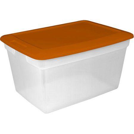 Sterilite Storage Box, Set Of Orange