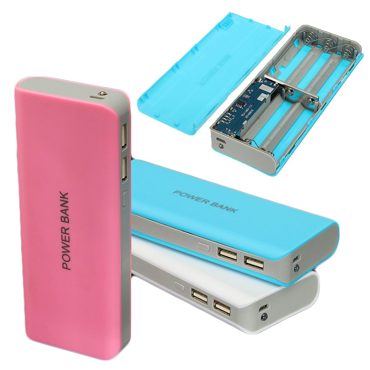 DIY 5*18650 Power Bank Battery Charger Box For iPhone ...
