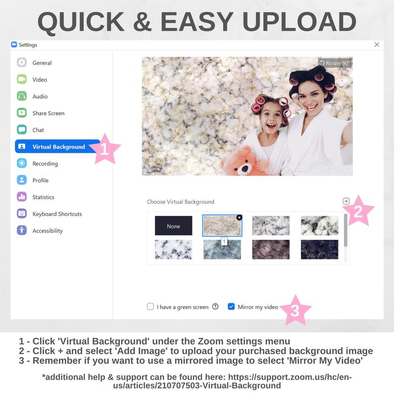 Marble Zoom Background Bundle Zoom Meeting Virtual Party Etsy Virtual Party Party Background One Direction Posters