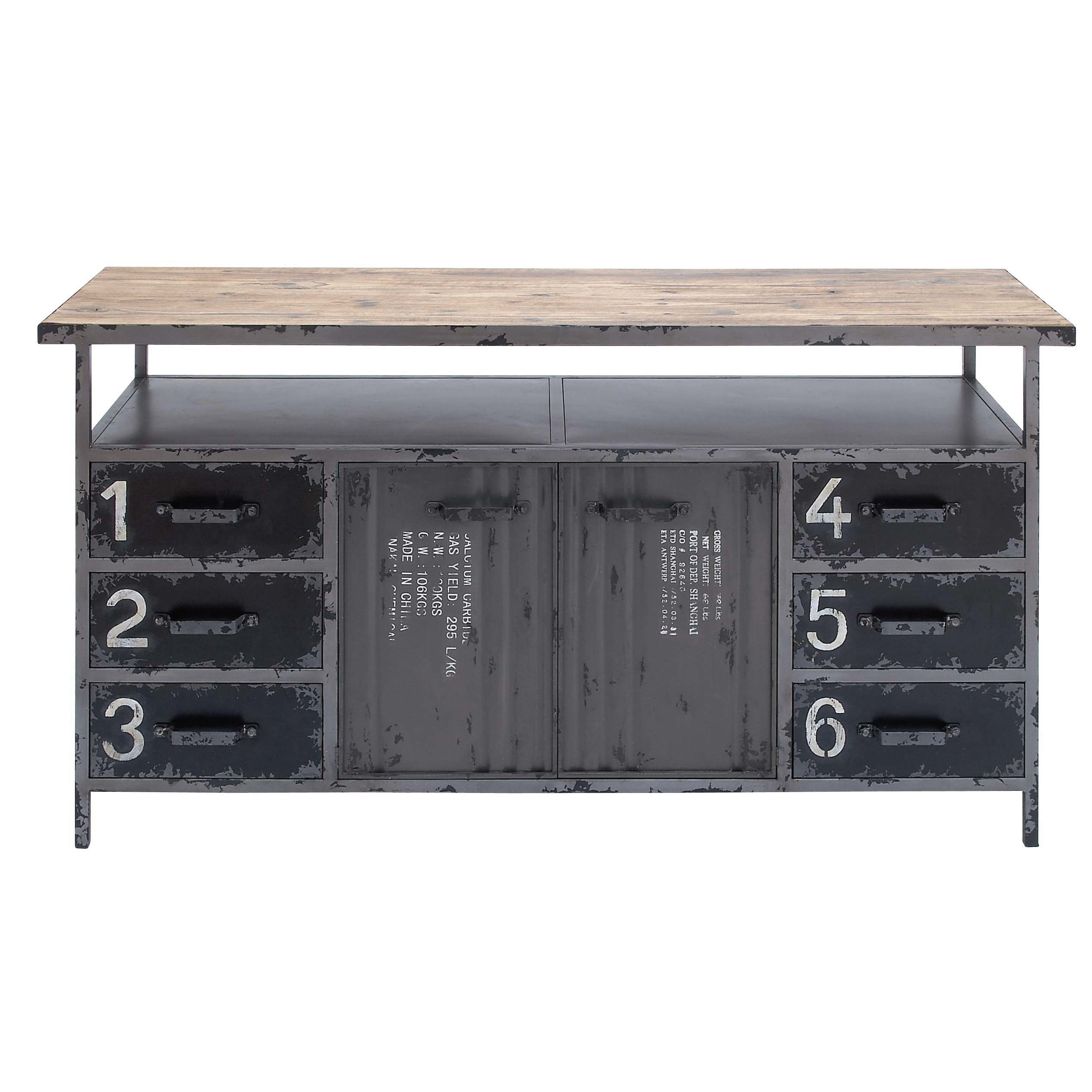 Cole U0026 Grey Metal And Wood Buffet
