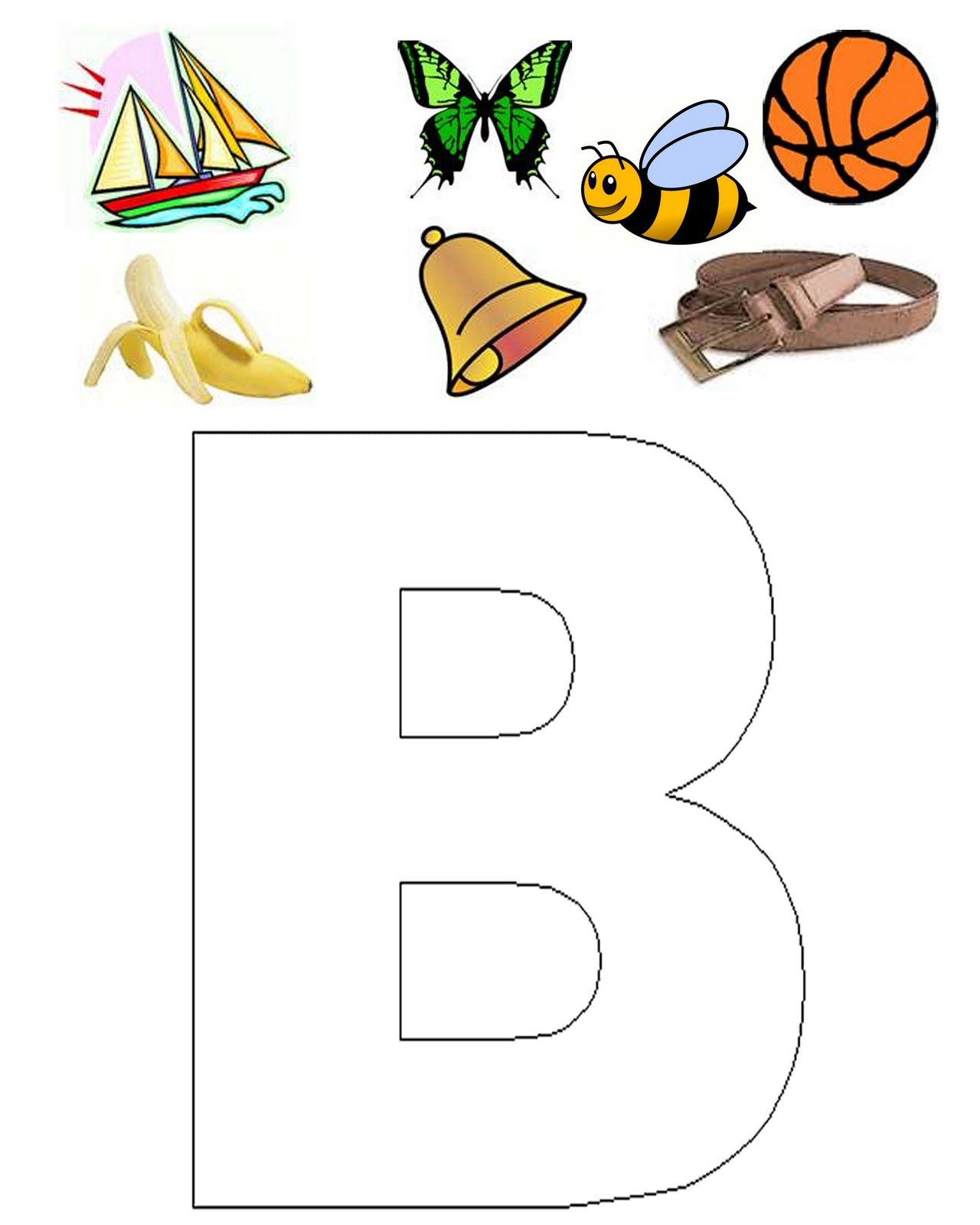 Welcome To Letter B Click Images To Print The Worksheets