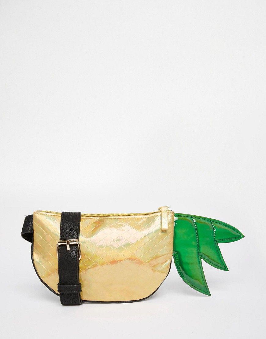 Image 1 of ASOS Metallic Pineapple Fanny Pack
