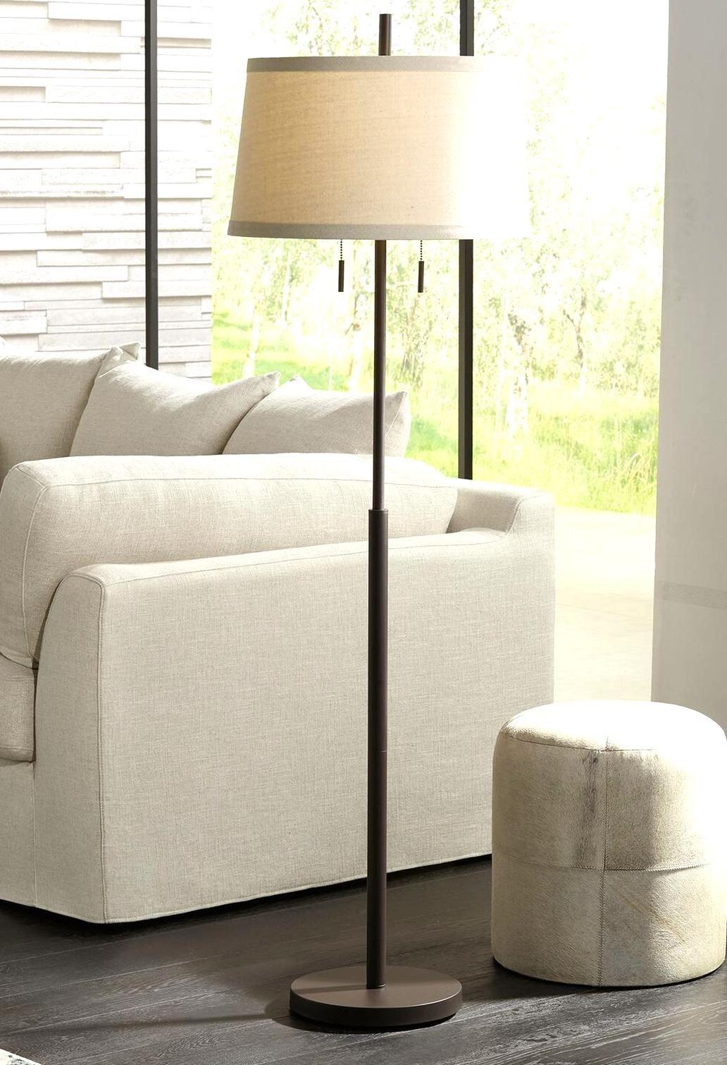 Modern Floor Lamp Bronze Slender Column Off White Shade For Living Room Bedroom Bedroom Lamps Ideas Of Bedr In 2020 Steel Floor Lamps Bronze Floor Lamp Floor Lamp