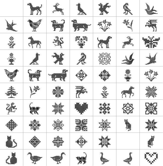 Cross Stitch font ornaments | cross stitch | Pinterest | Cross ...