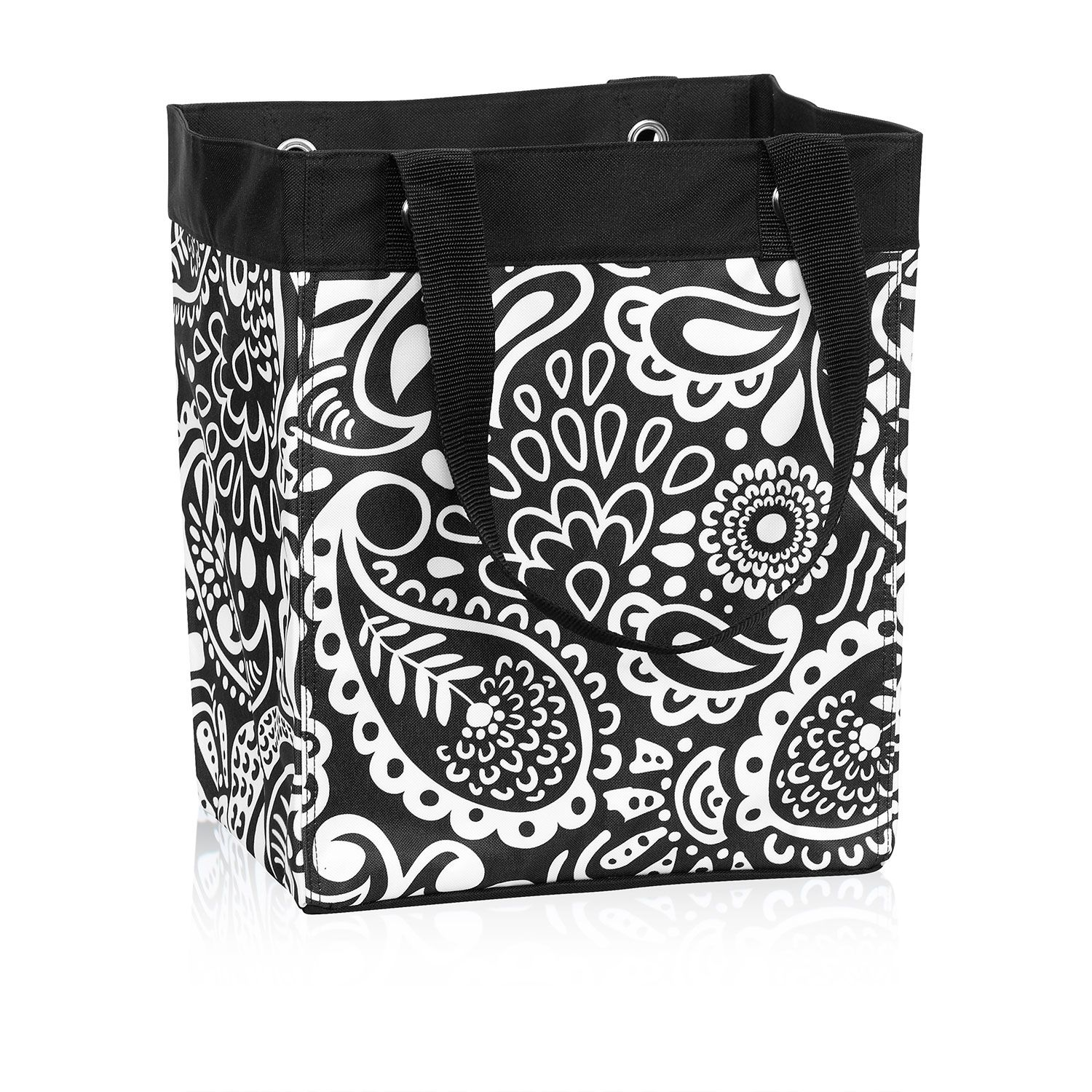 Essential Storage Tote In Black Playful Parade For $28   Head Out To The  Playground Or Take A Day Trip With All Your Essentials In This Roomy Storage  Tote.