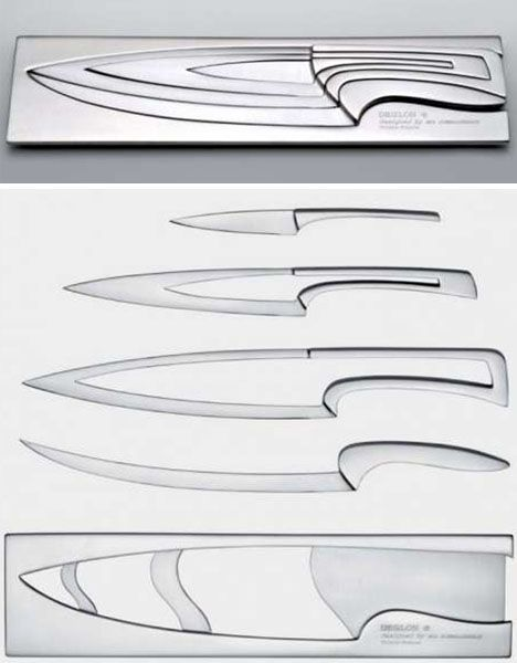 Modern Kitchen Knife Set these knives are awesome! they all fit together for storage, thus