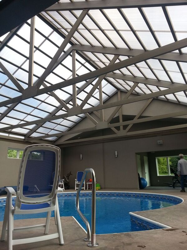 Cabrio Structures Makes Retractable Pool Enclosures For Year Round Patio And Pool Use With Innovative Engineering Pool House Pool Round Pool