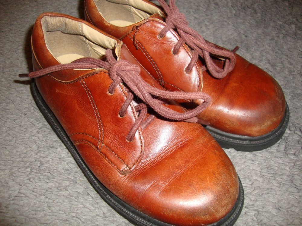 Boys stride rite james brown leather dress shoes size 11w