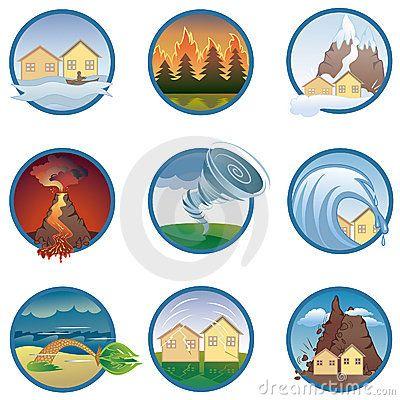 Natural Disasters Icons Desastres Naturales Para Ninos Fenomenos Naturales Desastres Naturales