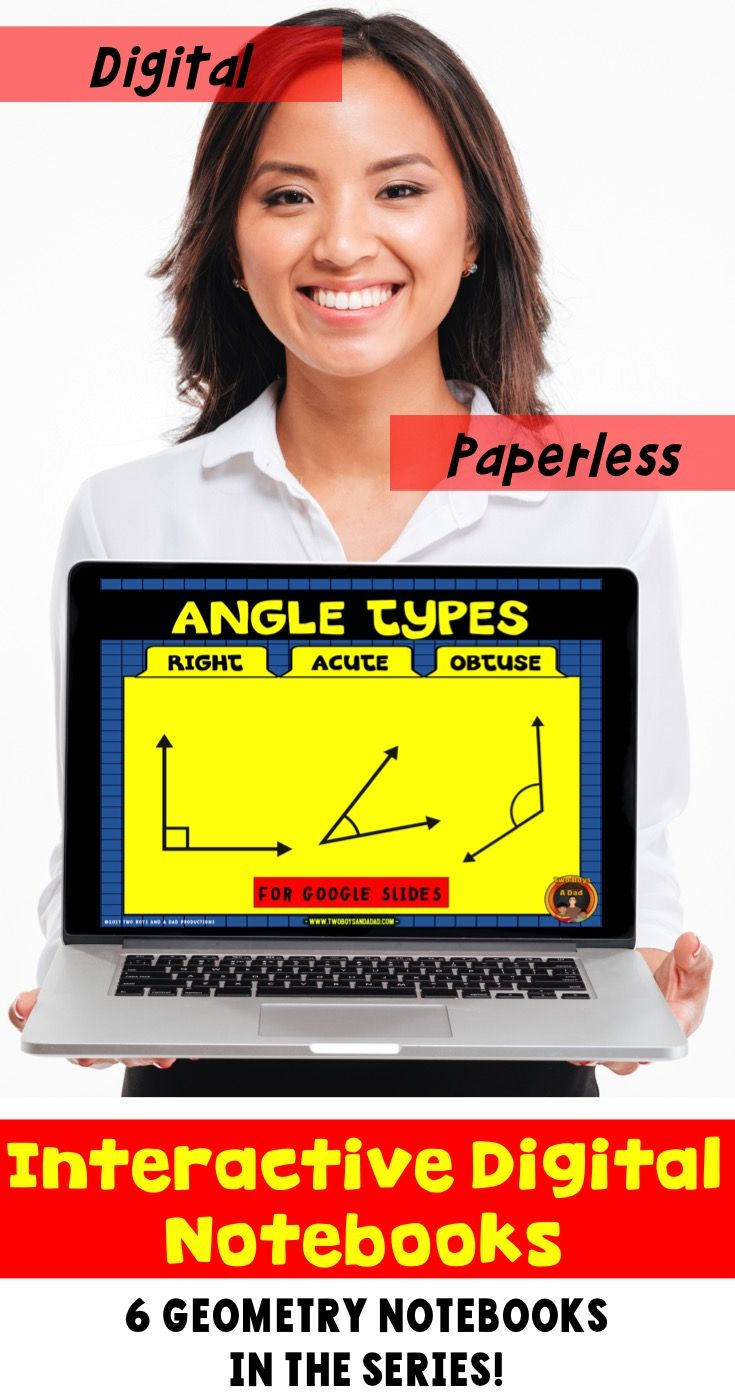Go paperless with this digital resource for geometry for Google Drive®. The Google Slides cover the three types of angles:  right angles, acute angels and obtuse angles. Students practice drawing these types of lines as well as solving problems involving these plane figures. Includes answer key and scoring guide. Come check out the PREVIEW!