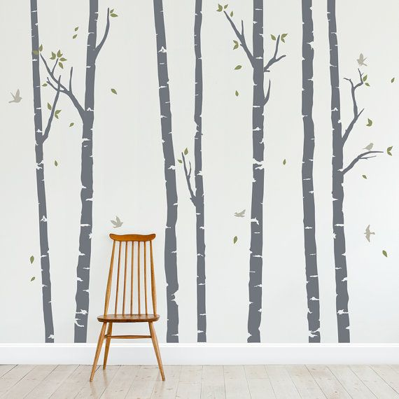 Birch Trees Forest Wall Decal Vinyl Wall By WallumsWallDecals